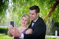 Φόρεμα επάνω σε Selfie στοκ εικόνα