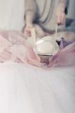Φόρεμα Ballerina pointes Στοκ Φωτογραφία