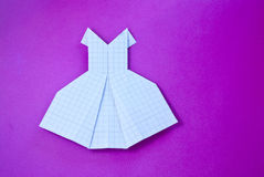 Φόρεμα Origami Στοκ Εικόνες