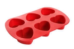 φόρμα καρδιών μπισκότων που διαμορφώνεται Στοκ Εικόνες