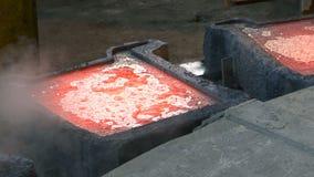 Φόρμες για το χυτό μέταλλο απόθεμα βίντεο