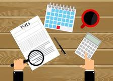 Φόροι αρίθμησης λογιστικής στον εργασιακό χώρο Διανυσματική απεικόνιση