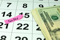 Φόροι στις ΗΠΑ και τα ημερολόγια στοκ φωτογραφίες