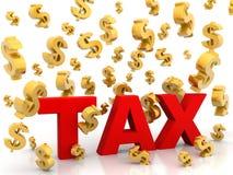 Φόρος από τη βροχή δολαρίων ελεύθερη απεικόνιση δικαιώματος