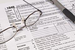 φόρος εισοδήματος μορφών Στοκ εικόνα με δικαίωμα ελεύθερης χρήσης
