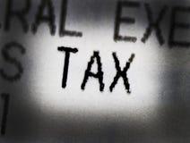 Φόρος επί των πωλήσεων λέξης Στοκ Εικόνες