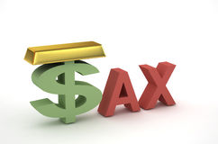Φόρος και χρήματα διανυσματική απεικόνιση