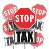 Φόρος στάσεων που γράφεται σε πολλές πινακίδες Στοκ Φωτογραφίες
