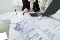 Φόρος υπολογισμού επιχειρηματιών στοκ εικόνα