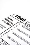 φόρος 1040 μορφής Στοκ Εικόνα