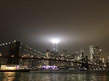 Φόρος WTC στα φω'τα, 9/11 στοκ εικόνες