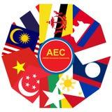 Φόρουμ οικονομικής κοινότητας της ASEAN, επιχειρηματική κοινότητα AEC, για το σχέδιο παρόν μέσα Στοκ φωτογραφία με δικαίωμα ελεύθερης χρήσης