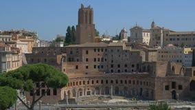 Φόρουμ Trajan, αγορά Trajan, Ρώμη, Ιταλία φιλμ μικρού μήκους