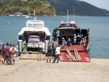 Φόρτωση σκαφών στο λιμένα Ankify, Μαδαγασκάρη Στοκ Εικόνες