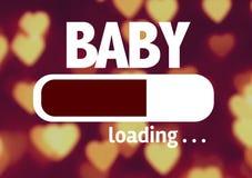 Φόρτωση φραγμών προόδου με το κείμενο: Μωρό Στοκ εικόνες με δικαίωμα ελεύθερης χρήσης
