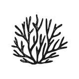 φύκι το απλό διανυσματικό σκίτσο απομόνωσε τη μαύρη σκιαγραφία διανυσματική απεικόνιση