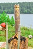 φύλακας βασικών ειδώλων ξύλινος στοκ φωτογραφίες με δικαίωμα ελεύθερης χρήσης