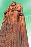 Φύλακας της κυκλοφορίας, ένας πυλώνας πετρών deco τέχνης στο Κλίβελαντ, Οχάιο, ΗΠΑ στοκ φωτογραφία με δικαίωμα ελεύθερης χρήσης