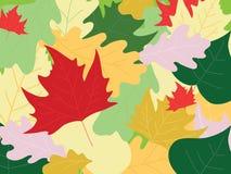φύλλα ανασκόπησης φθινοπώ& διανυσματική απεικόνιση