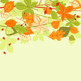 φύλλα ανασκόπησης φθινοπώ& Στοκ Φωτογραφίες