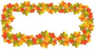 φύλλα εμβλημάτων φθινοπώρ&omic Στοκ Εικόνα