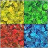 φύλλα καμβά που χρωματίζονται Στοκ Φωτογραφίες