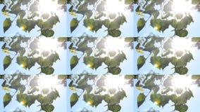 Φύλλα σε έναν κλάδο ενάντια σε έναν σαφή μπλε ουρανό με τον ήλιο που λάμπει, HD 1080 απόθεμα βίντεο