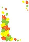 φύλλα συνόρων φθινοπώρου Διανυσματική απεικόνιση