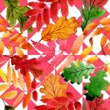 Φύλλα του σχεδίου viburnum σε ένα ύφος watercolor Στοκ εικόνα με δικαίωμα ελεύθερης χρήσης