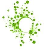 φύλλα τριφυλλιού εμβλημά διανυσματική απεικόνιση