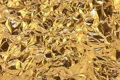 φύλλο αλουμινίου χρυσό Στοκ Εικόνες