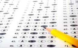 Φύλλο απάντησης δοκιμής με το μολύβι Conce εκπαίδευσης δοκιμής εξέτασης Στοκ φωτογραφίες με δικαίωμα ελεύθερης χρήσης