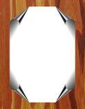 φύλλο εγγράφου πλαισίων φύλλων αλουμινίου Στοκ φωτογραφία με δικαίωμα ελεύθερης χρήσης