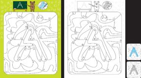 Φύλλο εργασίας εκμάθησης αλφάβητου Στοκ εικόνες με δικαίωμα ελεύθερης χρήσης