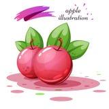 Φύλλο και χυμός της Apple - απεικόνιση κινούμενων σχεδίων Στοκ εικόνα με δικαίωμα ελεύθερης χρήσης