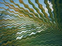 Φύλλο καρύδων που διαστρεβλώνεται υπό μορφή κυμάτων Στοκ Εικόνα