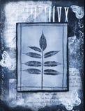φύλλο κολάζ έργου τέχνης Στοκ φωτογραφία με δικαίωμα ελεύθερης χρήσης