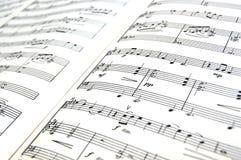 φύλλο μουσικής στοκ φωτογραφίες με δικαίωμα ελεύθερης χρήσης