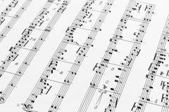 φύλλο μουσικής Στοκ Φωτογραφία