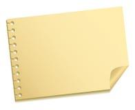 φύλλο σημειώσεων Στοκ Εικόνες