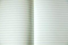 Φύλλο του ευθυγραμμισμένου εγγράφου σημειώσεων Στοκ Φωτογραφία