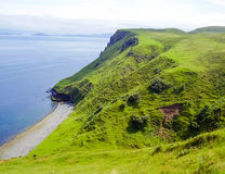 Φύση ακτών της Σκωτίας Στοκ Φωτογραφία