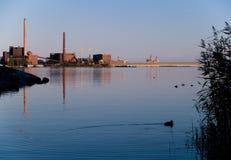 φύση βιομηχανίας πλησίον Στοκ Εικόνα