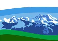 φύση βουνών Στοκ Εικόνες
