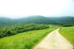 Φύση Δρόμος στα βουνά ΘΕΡΙΝΟ τοπίο στοκ φωτογραφία με δικαίωμα ελεύθερης χρήσης