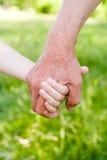 φύση δύο χεριών Στοκ εικόνα με δικαίωμα ελεύθερης χρήσης