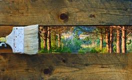 Φύση ζωγραφικής Στοκ φωτογραφίες με δικαίωμα ελεύθερης χρήσης