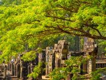 Φύση και καταστροφές σε Angkor Thom Στοκ Εικόνες
