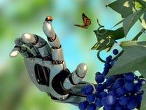 Φύση και ρομπότ Στοκ εικόνα με δικαίωμα ελεύθερης χρήσης