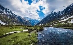 Φύση μεταξύ Geiranger και Stryn, Νορβηγία Στοκ Φωτογραφία